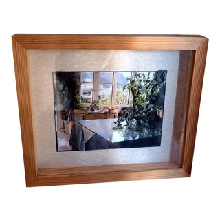 1970s 3-D Layered Still Life Painting on Paper Signed Framed Shadow Box From Israel For Sale