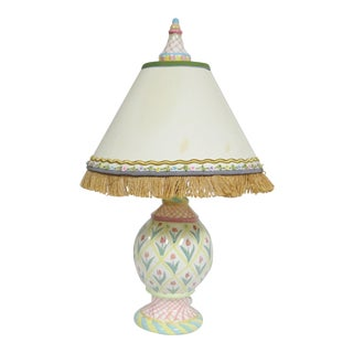 Mackenzie Childs Decorated Table Lamp For Sale