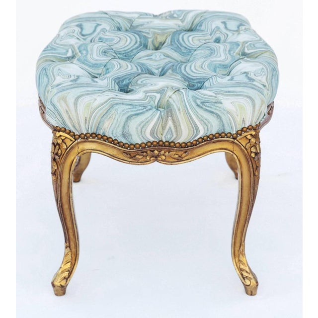 Late 19th Century 19th Century Louis XV Giltwood Bench For Sale - Image 5 of 7