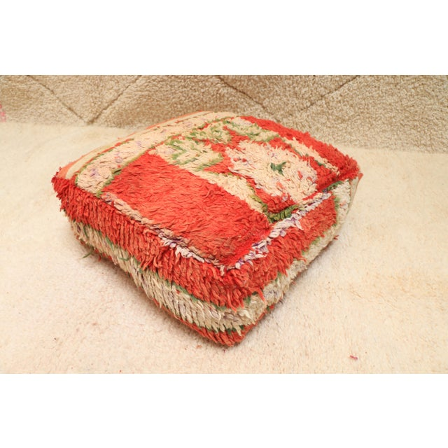 Moroccan Vintage Unstuffed Pouf For Sale - Image 12 of 12