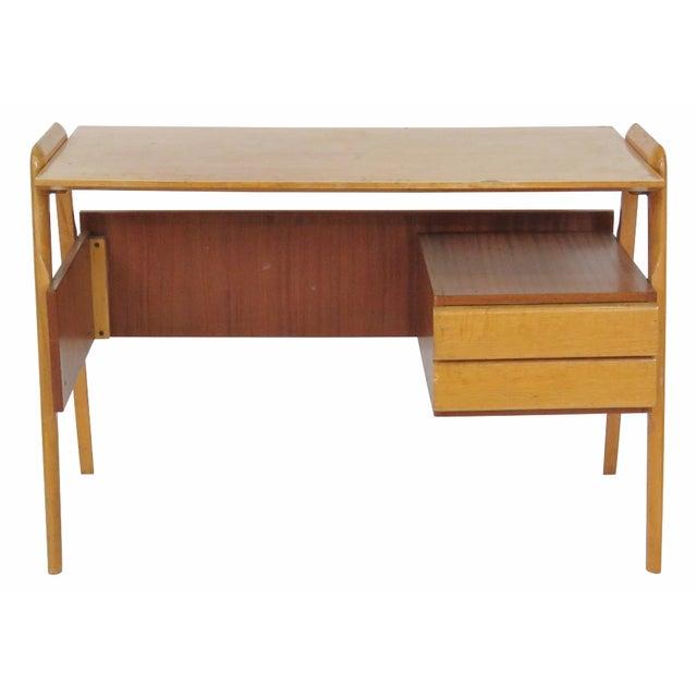Modern Italian Ico Parisi Style Teak Desk - Image 1 of 5