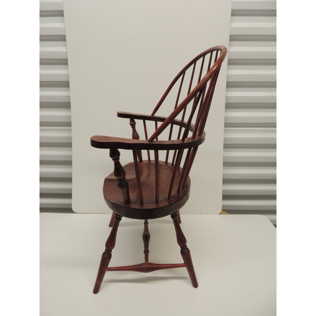 1980s Vintage Child's Windsor Arm Chair For Sale - Image 5 of 7