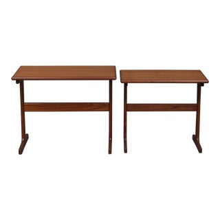1960s Danish Modern Teak Nesting Tables - a Pair For Sale