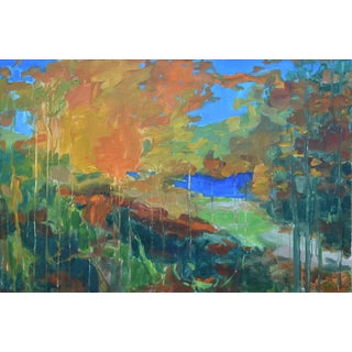 "Contemporary Abstract Painting, ""Path to the River"", by Stephen Remick For Sale"