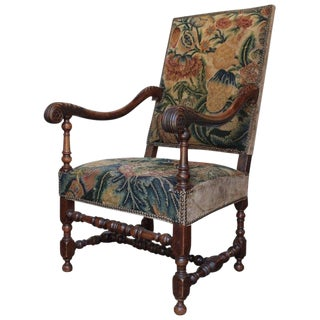 17th Century Antique Louis XIII Fauteuil For Sale