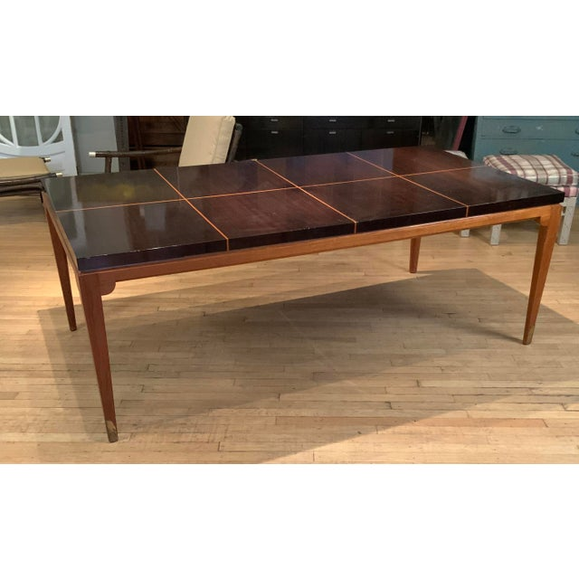 1950s 1950s Mahogany Extension Dining Table by Tommi Parzinger for Parzinger Originals For Sale - Image 5 of 13