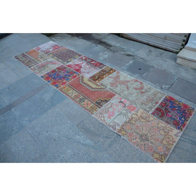 Islamic Vintage Handwoven Decorative Anatolian Runner - 2′11″ × 10′ For Sale - Image 3 of 6