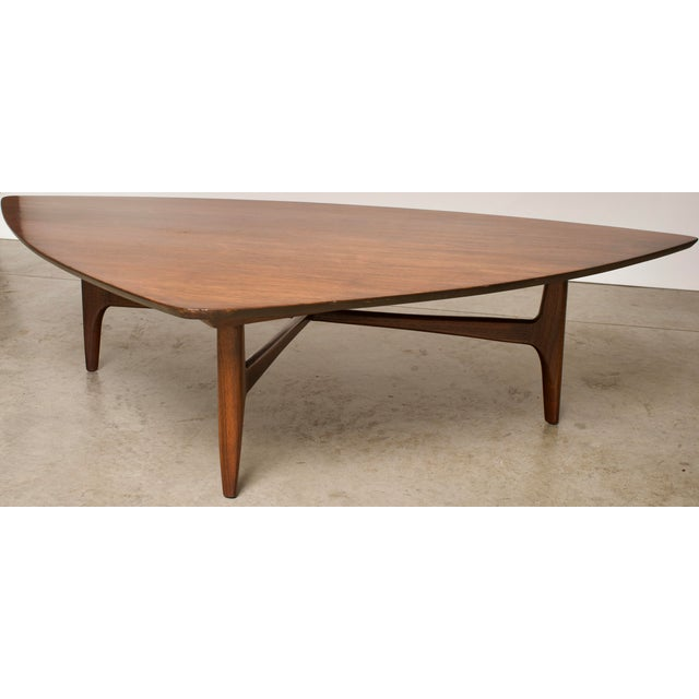 Brown 1960s Mid-Century Modern Erwin Lambeth Walnut Coffee Table For Sale - Image 8 of 10