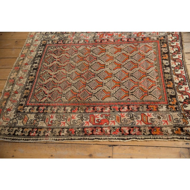 "Antique Hamadan Square Rug - 4'1"" x 4'9"" For Sale - Image 5 of 12"