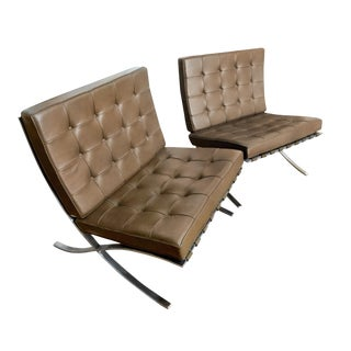 Knoll Barcelona Chairs - A Pair