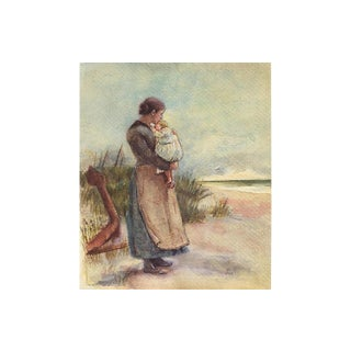 1920s Mother & Child at the Shore For Sale