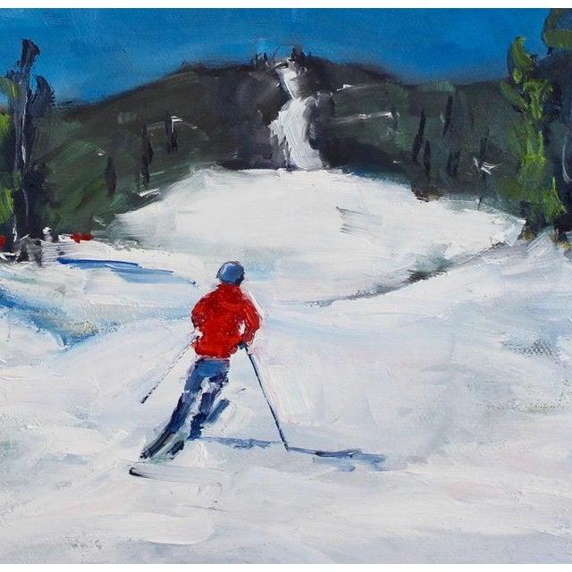 Blue Diamond Peak Run Original Oil Painting Landscape For Sale - Image 8 of 12