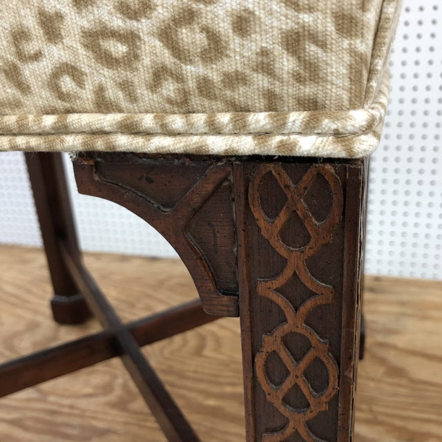 Classic Chippendale Style Square Stool For Sale - Image 4 of 7