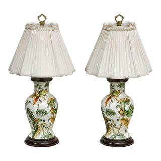 Bradburn Chinoiserie Ginger Jar Table Lamps - a Pair