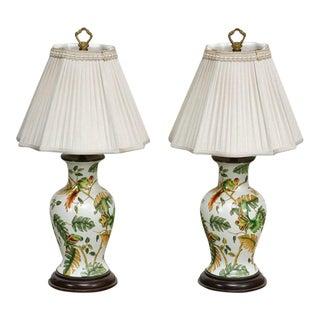 Bradburn Chinoiserie Ginger Jar Table Lamps - a Pair