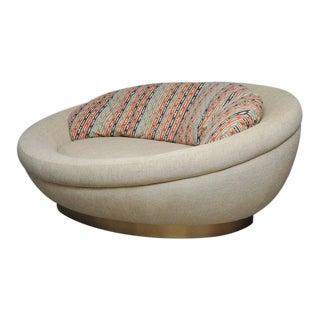 Cuddle Pod Lounge Sofa on Brushed Brass Base, circa 1970s
