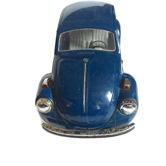 Vintage Volkswagen Beetle Decanter Jim Beam Collectible Metal VW Bug - Image 4 of 10