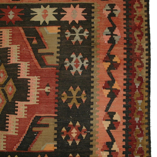 "Turkish Adana Flatweave Kilim Rug - 6'1"" x 12'6"" - Image 3 of 6"