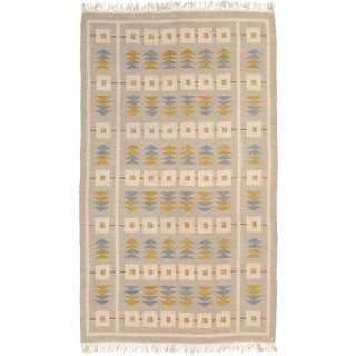 Mid 20th Century Swedish Flat Weave Rug- 6′6″ × 11′1″ For Sale