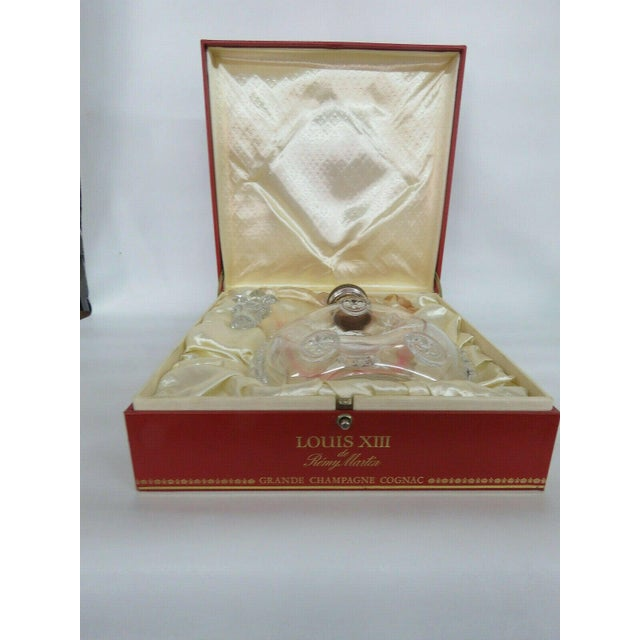 Late 20th Century Remy Martin Louis XIII Empty Baccarat Crystal Cognac Bottle Box Set For Sale - Image 5 of 11