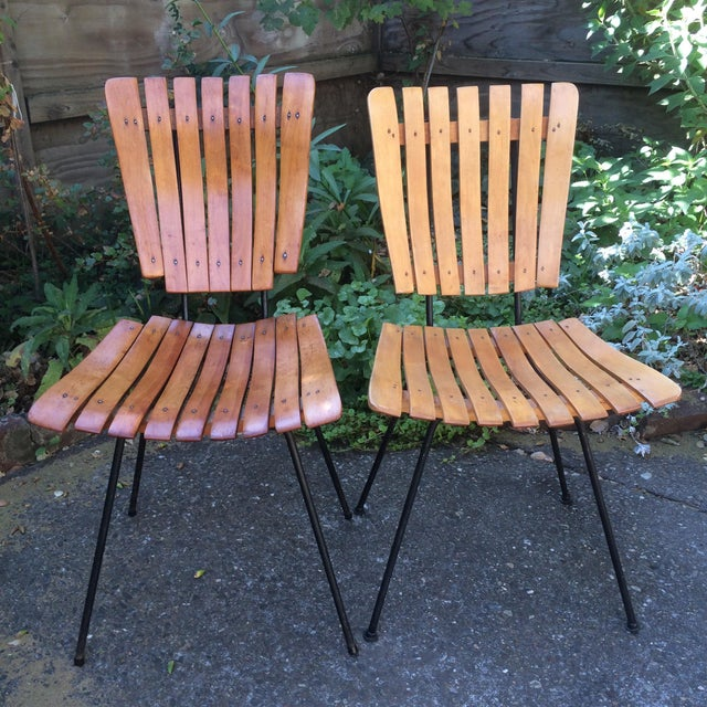 1950s Vintage Umanoff Slat Dining Chairs- Set of 6 For Sale - Image 9 of 13