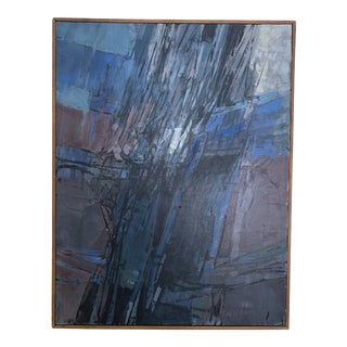 George James Abstract Expressionism Drip 1950's Painting For Sale