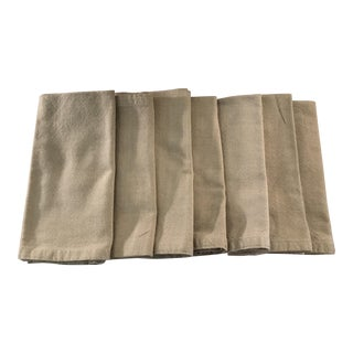 Tan Cotton Napkins - Set of 7 For Sale