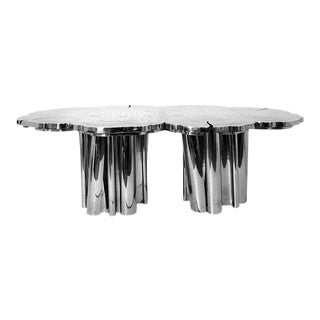 Fortuna Silver Dining Table From Covet Paris For Sale