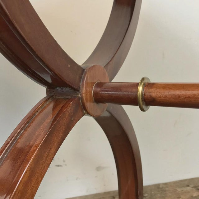 Gold Pair Mid-Century French Charles X Side Tables For Sale - Image 8 of 13
