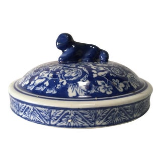 Antique Chinese Temple Jar Lid For Sale