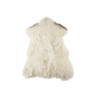 "Contemporary Natural Wool Sheepskin Pelt - 2'4""x3'2"" For Sale"