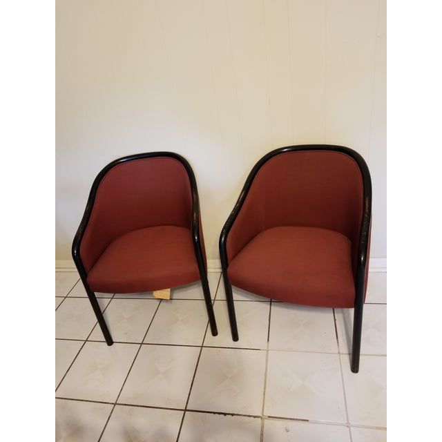 Vintage Mid Century Modern Ward Bennett Chairs- A Pair For Sale - Image 12 of 12