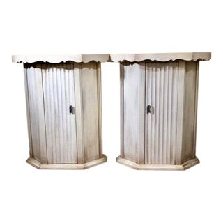 1960s Traditional Single Drawer Side Tables - a Pair For Sale