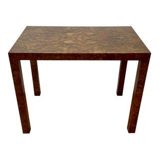 Vintage Burl Walnut Side Table by Milo Baughman C.1970 For Sale