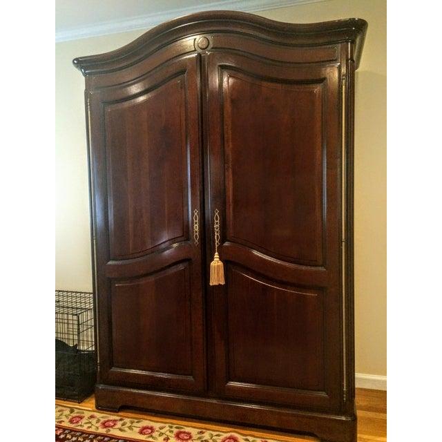 Wood Grange France Bonnet Top Armoire For Sale - Image 7 of 11
