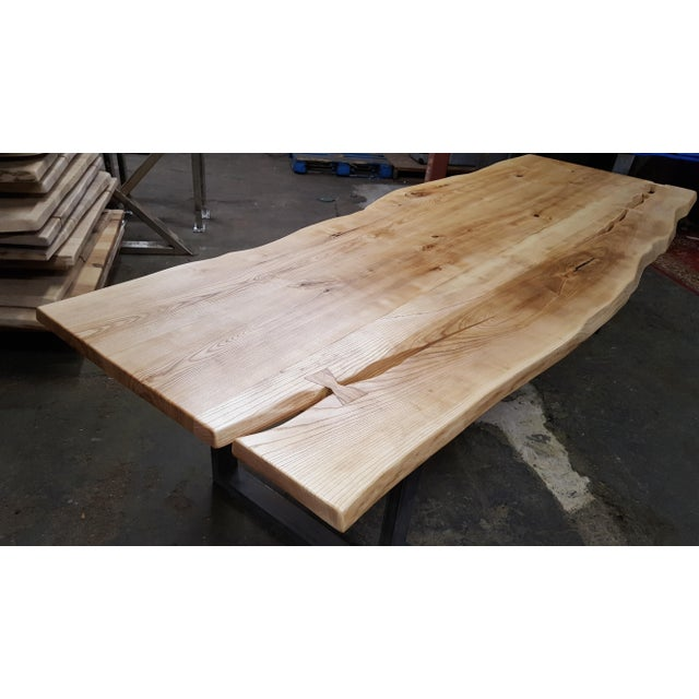 Handcrafted Siberian Ash Wood Plank Table - Image 4 of 6