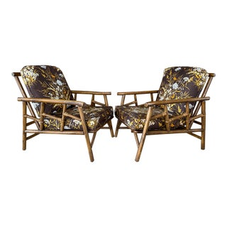 Vintage Ficks Reed Pagoda Chinese Chippendale Rattan - Set of 3 For Sale