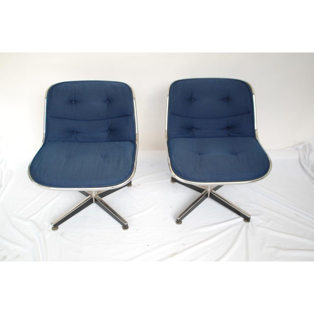 Knoll Late 20th Century Knoll Swivel Chairs- a Pair For Sale - Image 4 of 5