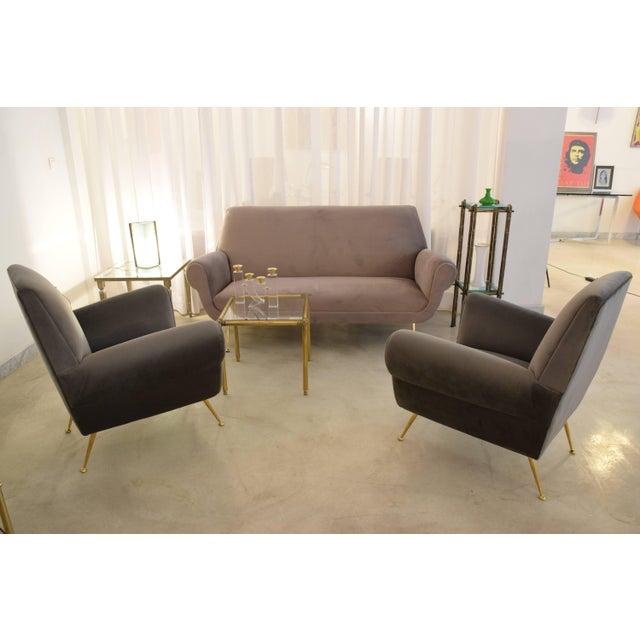 Italian Mid-Century Modern Velvet Sofa by Gigi Radice for Minotti, 1950s For Sale - Image 12 of 13