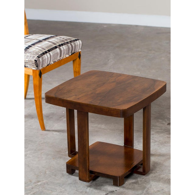 Art Deco Art Deco Vintage French Walnut Table circa 1930 For Sale - Image 3 of 9