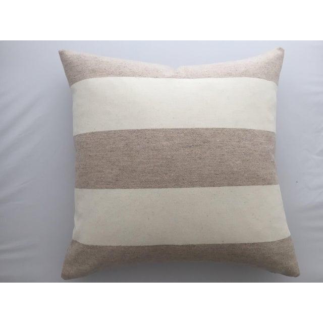 Italian Eco-Friendly Stripes Wool Pillow - Image 4 of 4