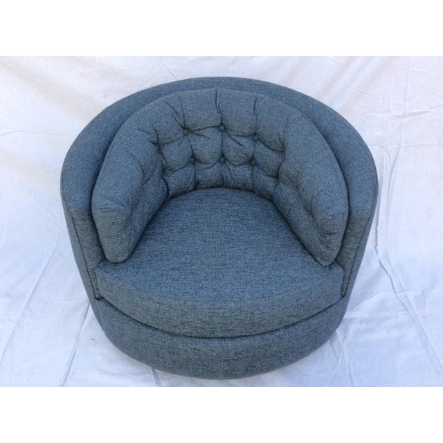 Mid Century Barrel Swivel Chair For Sale - Image 12 of 12