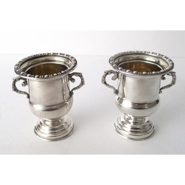 Traditional Antique 900 Silver Mini-Urns - A Pair - Image 2 of 6