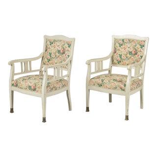 Pair of Art Nouveau Armchairs For Sale