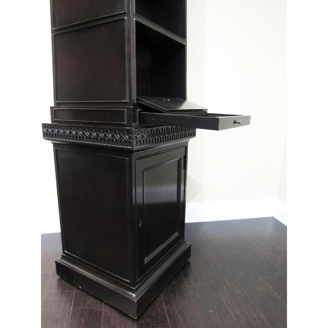 Pyramid Bookcase by Baker For Sale - Image 5 of 6