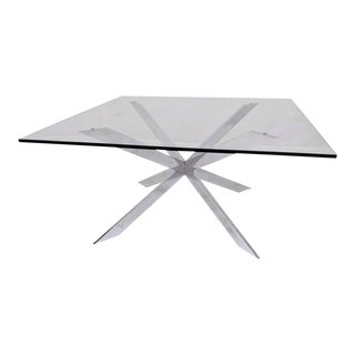 Pace Collection Chrome and Glass Coffee Table Mid Century For Sale