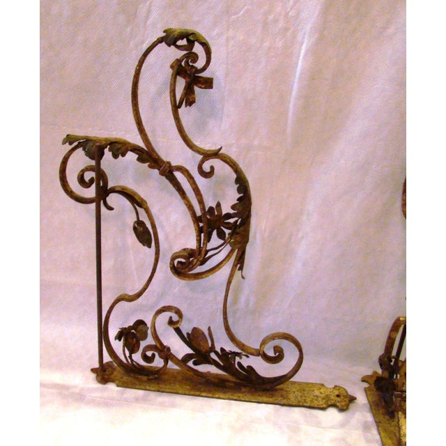 19th-C. Upholstery Door Brackets - A Pair - Image 4 of 10