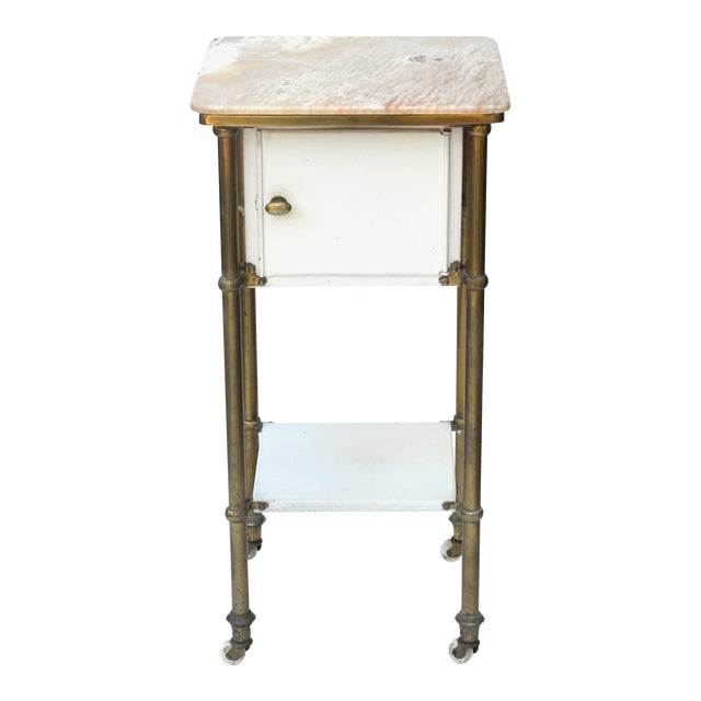 Antique Medical Cabinet Rolling Cart For Sale