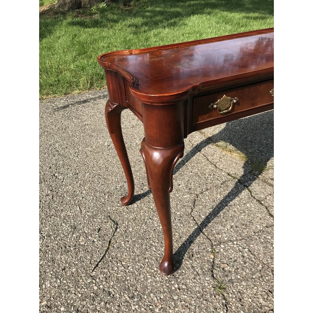 Hekman Furniture Traditional Walnut Console by Hekman For Sale - Image 4 of 10