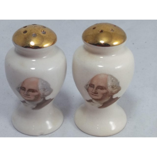 Mid-Century Modern George Washington Salt & Pepper Shakers For Sale - Image 3 of 10